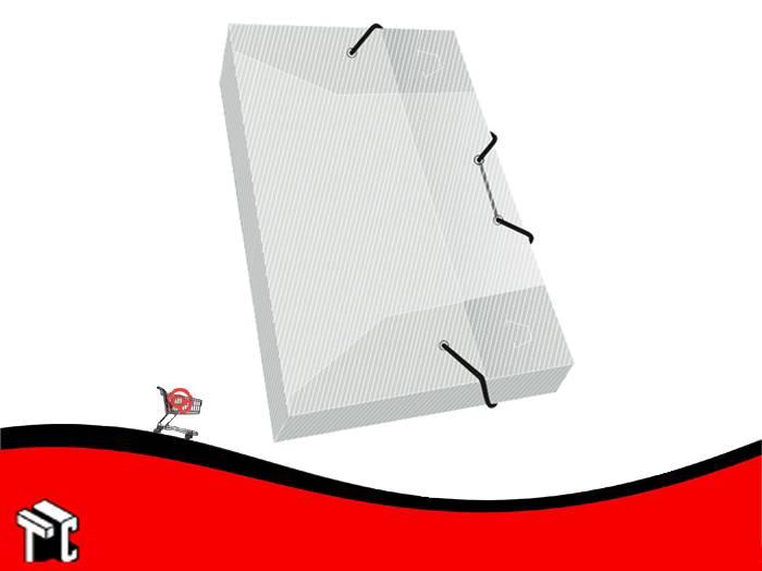Caja Archivo Cristal Con Elástico 5 Cm
