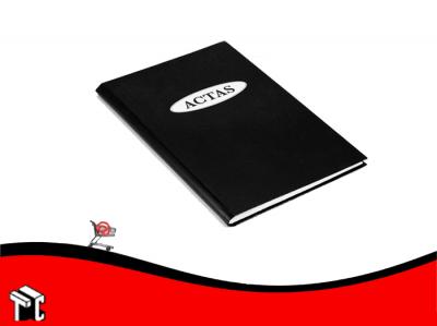 Libro De Actas  2 Manos Clochette Tapa Negra
