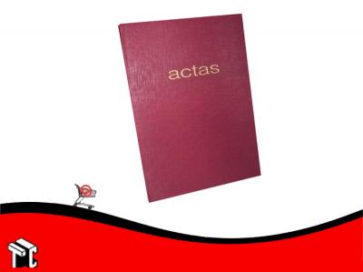 Libro De Actas 3 Manos Corona Tapa Roja