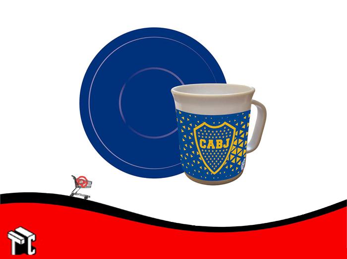 Taza Con Plato Boca Juniors