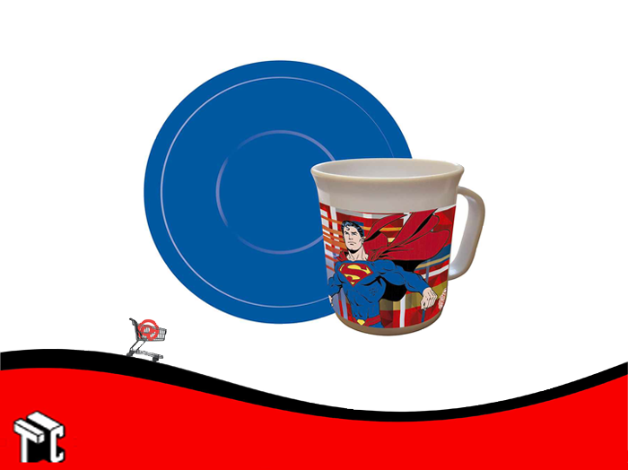 Taza Con Plato Superman