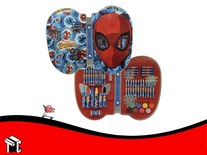 Set De Arte Spiderman 55 Piezas Ha150