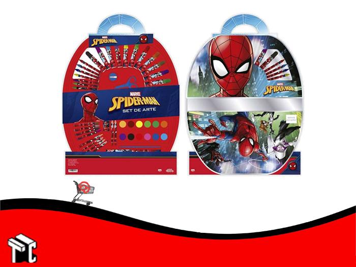 Set De Arte Spiderman 50 Piezas Ha151