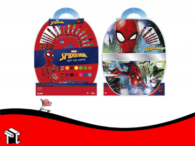 Set De Arte Spiderman 50 Piezas Ha151