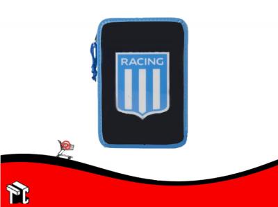 Cartuchera 2 Pisos Pvc Racing Club