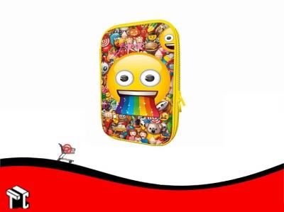 Cartuchera 2 Pisos Eva Emoji