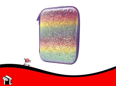 Cartuchera 2 Pisos Eva Glitter Rainbow