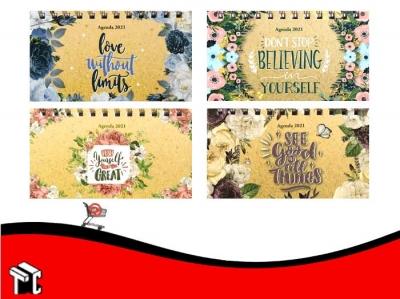 Agenda 2021 Pocket Semana A La Vista Letter Flowers