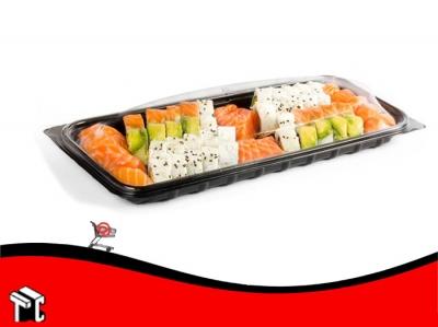 Bandeja Sushi Grande Bandex 6501 Base Y Tapa X Unidad