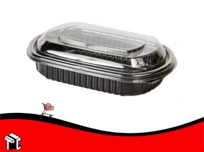 Bandeja Sushi Negra Con Tapa Cotnyl Nº475 X Unidad
