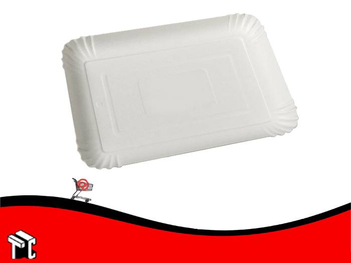 Bandeja De Carton Color Blanco N.° 4 X 100 Unidades