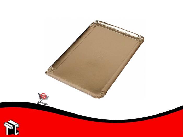 Plato Dorado 24 X 30 Cm. Para 1 Kg Y 1/2 X Unidad