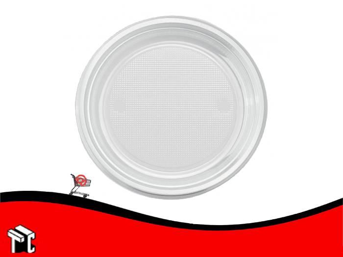Plato Plastico 22 Cm Dixie Blanco X 50 Unidades