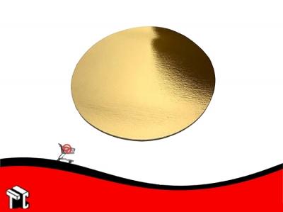 Disco De Carton Dorado Diametro 28 X Unidad