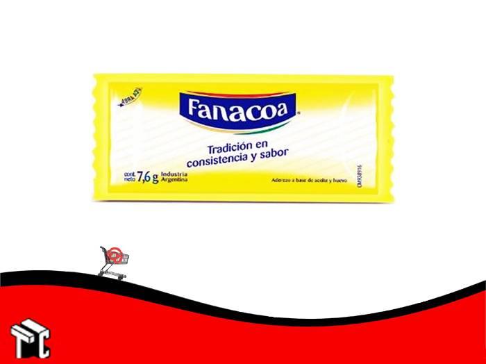 Mayonesa Fanacoa 7,6 Grs X 196 Sobres