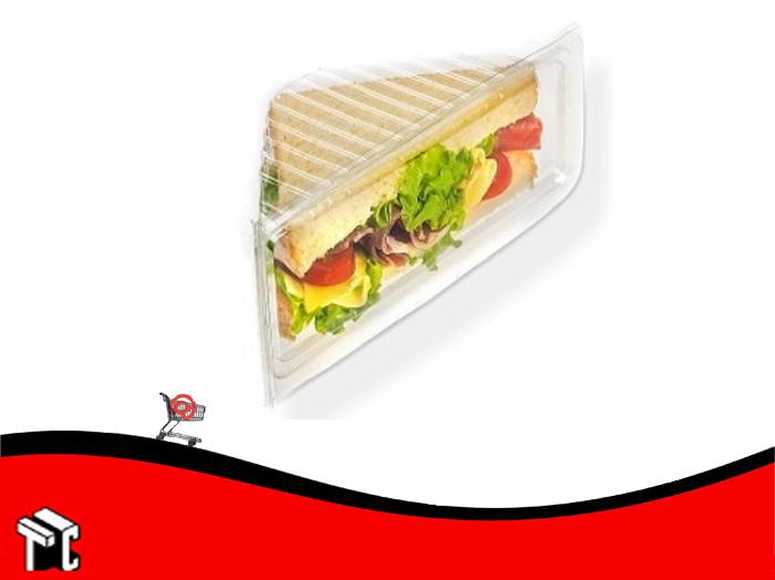 Sandwichera Triangular Pet Con Tapa Bandex X 75 Ud.
