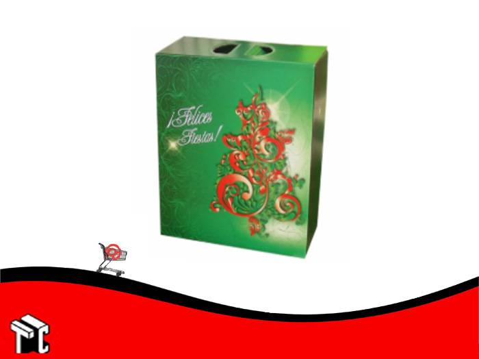 Caja Maletin Felices Fiestas Plastificada 24 X 13 X 34 Cm