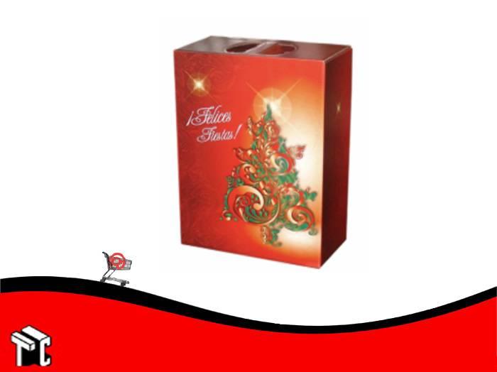 Caja Maletin Felices Fiestas Plastificada 30 X 16 X 34 Cm