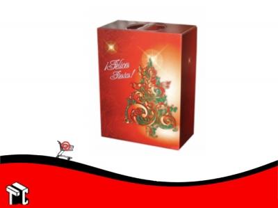 Caja Maletin Felices Fiestas Plastificada 35 X 21 X 36 Cm