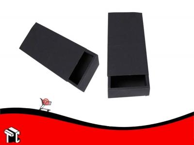 Caja Para 1/2 Kg De Bombones Negro Deslizable X Unidad