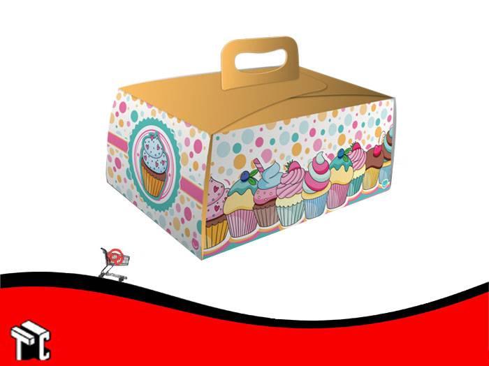 Caja Cupcake X6 Dots Con Porta Cupcake X10 Unidades