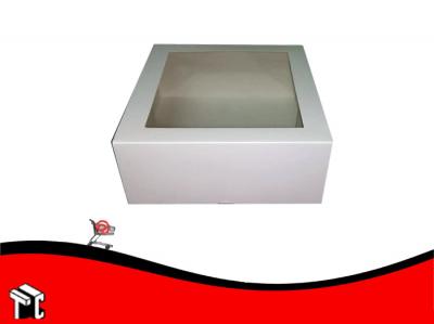 Caja 24.5x24.5x10 Con Ventana X 25ud