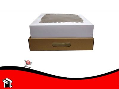 Caja Base Microcorrugado Tapa Cartulina 30x30x12 X 10ud