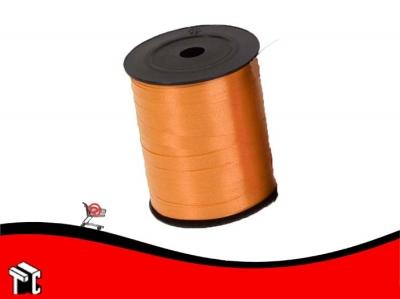 Cinta De Regalo Lisa 0.5 Cm X 1.000 M Color Naranja