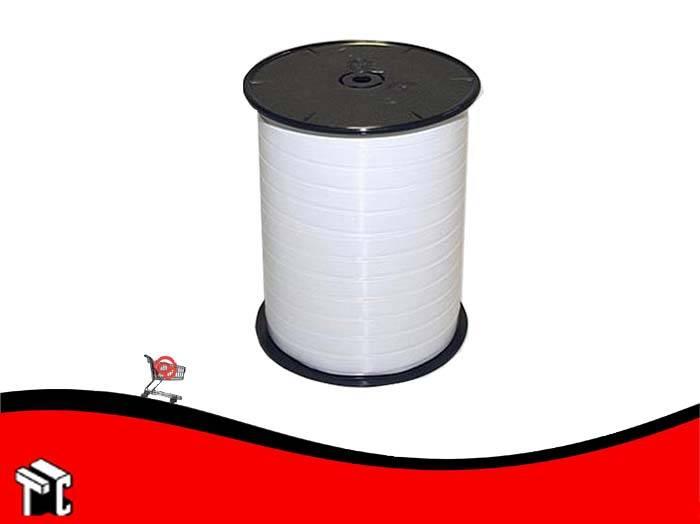 Cinta De Regalo Lisa 0.5 Cm X 1.000 M Color Blanco