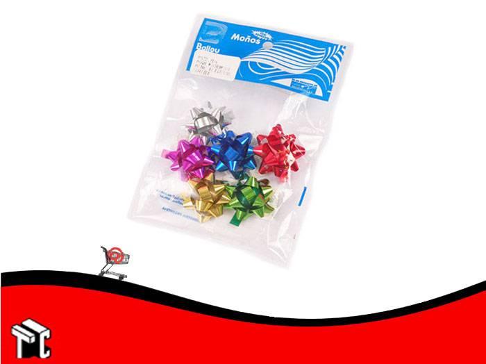 Moño Estrella Liso Mini X 25 Unidades Colores Surtidos