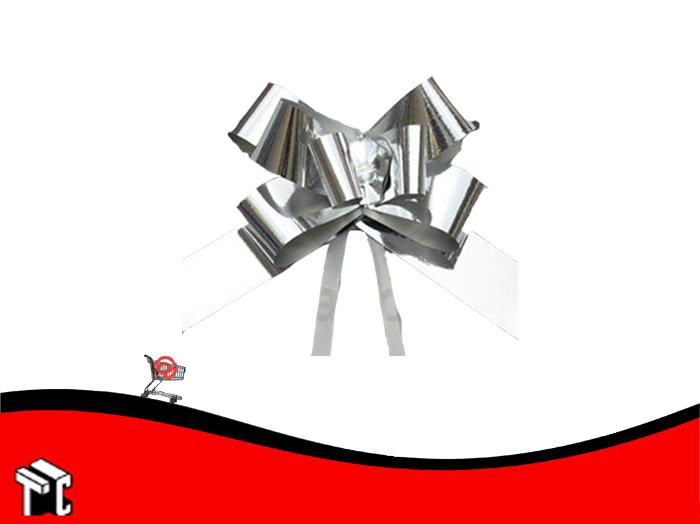 Moño Rápido Metal Grande Plata X 50 Ud.