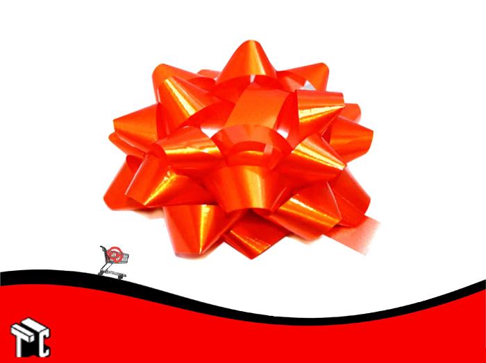Moño Para Auto Color Naranja