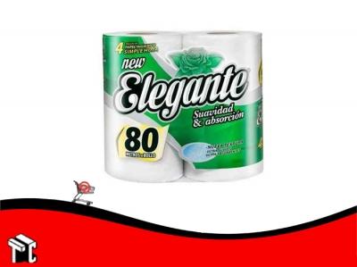 Papel Higienico Elegante Cuatro Unidades X 80 Mts