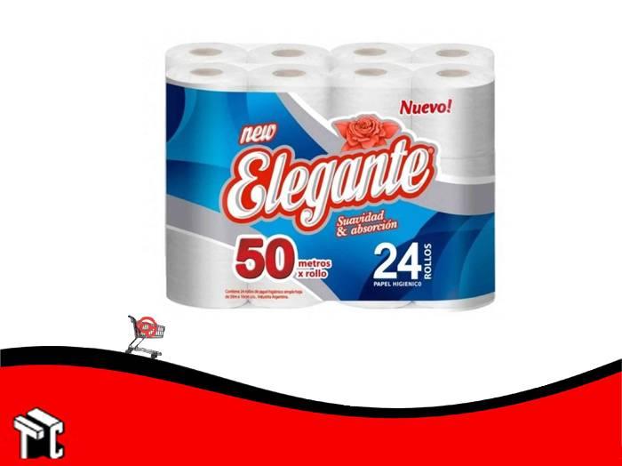 Papel Higienico Elegante Premium Veinticuatro Unidades X 50 Mts