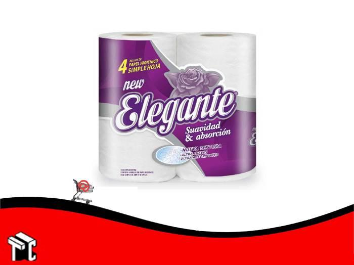 Papel Higienico Elegante New Cuatro Unidades X 30 Mts