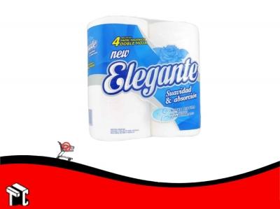 Papel Higienico Elegante Doble Hoja Cuatro Unidades X 30 Mts