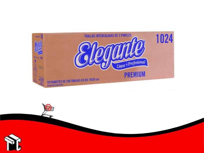 Toallas Intercaladas Elegante 19 X 20 Cm 2 Paneles Blancas X 2500 Unidades