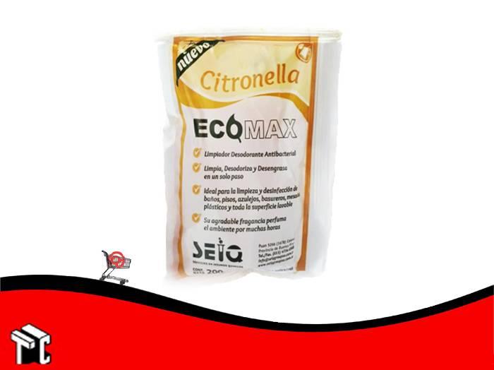 Desodorante De Piso Ecomax Fragancia Citronella