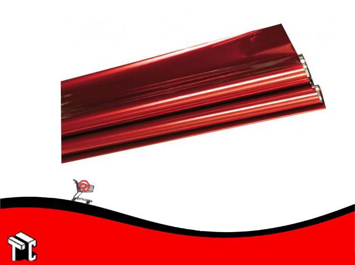 Papel De Regalo Metalizado Rojo 70x50cm