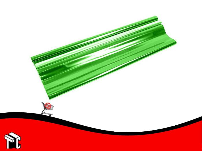 Papel De Regalo Metalizado Verde 70x50cm