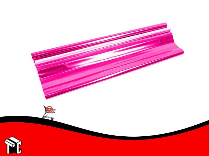 Papel De Regalo Metalizado Fucsia 70x50cm