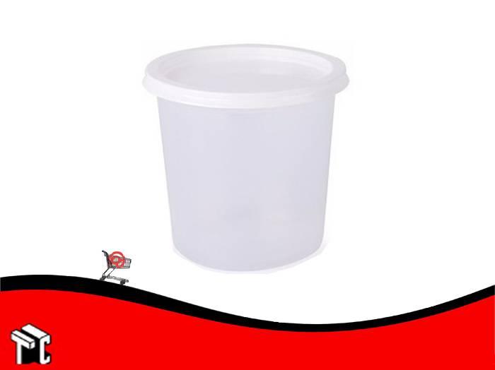 Pote De Plastico Dixie 1kg Con Tapa X Unidad