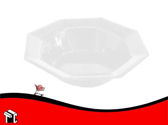 Bowl Plastico Octogonal 15 Cm Blanco X Unidad