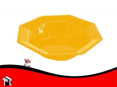 Bowl Plastico Octogonal 15 Cm Amarillo X Unidad