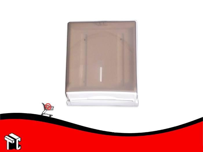 Dispenser Para Toalla 4 Paneles Tapa Transparente