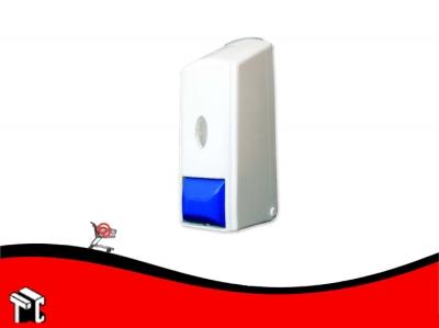 Dispenser De Jabon Liquido Blanco Tecla Azul