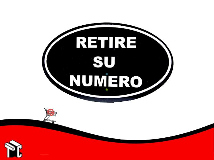 Cartel Retire Numero Para Expendedora