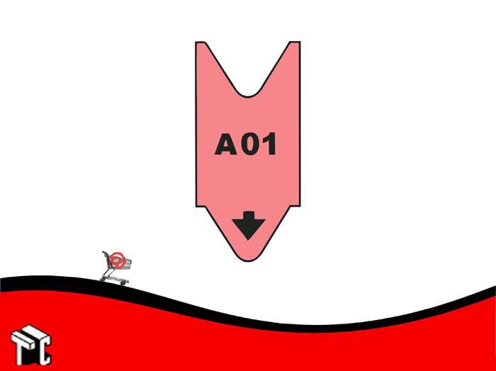 Rollo Alfanumerico A00 Al A99 X 2.000 Numeros Color Rojo