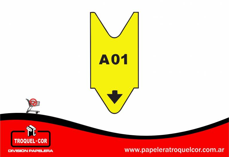 Rollo Alfanumerico A00 Al A99 X 2.000 Numeros Color Amarillo