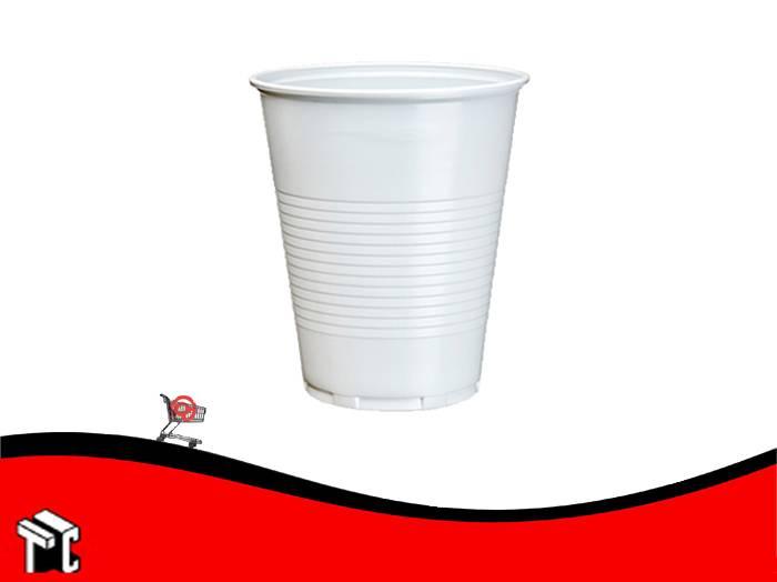 Vaso Plástico 220 Cm3 Blanco × 100 Unidades